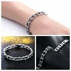 Men's Silver Stainless Steel Motorcycle Bike Bicycle Chain Bracelet High Polish