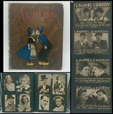 VTG Scrapbook Hollywood Photos Postcards & Laurel & Hardy Newspaper Clippings