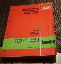 Deutz Fahr Transmission D6806 D7206 D6807 D7207 D7807  TW56.10 TW56.20 Manual