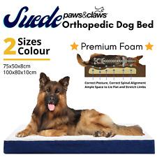 ORTHOPEDIC DOG BED WITH MEMORY FOAM 2-Size Pet Beds Mat Cat Pad Cushion Mattress