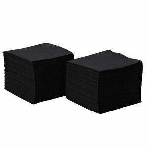 Luxury 2PLY Black 24cm Paper Cocktail Bar Napkins Tissue (Pack of 4000)