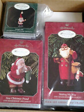 HALLMARK 1998 MEMBERSHIP ORNAMENT KIT with 3 SANTA ORNAMENTS not sold in stores!