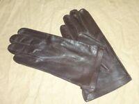 Paire de gants cuir brun type officier allié 1944-1945 US Army taille 8