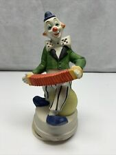 Ceramic Music Box Clown With Accordion Vintage Melody Musical KG