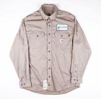Vintage FR CARHARTT Beige Pocket Worked Shirt Size Mens Large