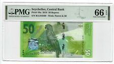 P-49a 2016 50 rupees, Seychelles Central Bank, PMG 66EPQ Nice!