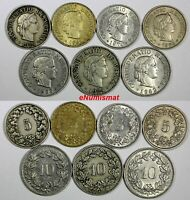 SWITZERLAND LOT OF 7 COINS 1924-1981 5,10 Rappen KM#27,KM#27b,KM#26 (17 957)