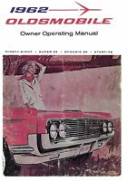 OEM Maintenance Owner's Manual Bound for Oldsmobile 88, 98, Starfire 1962