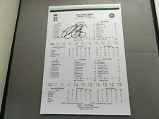 More details for england india 2018 test match scorecard hand signed by alastair cook final test