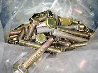 10 Sechskantschrauben Vollgewinde DIN933 M10x25 %bei Mehrfachkauf% gelb verzinkt