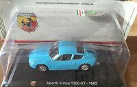 "DIE CAST "" ABARTH SIMCA 1300 GT - 1962 "" + TECA RIGIDA  BOX 2 SCALA 1/43"