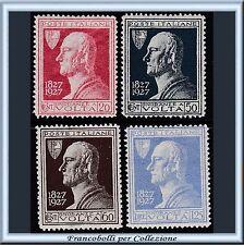 1927 Italia Regno Volta serie completa n. 210/213 Centrati Nuovi Integri **
