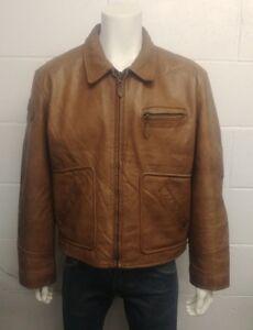 Diesel Steer Hide 100% Leather Highwayman Style Jacket. Size Extra Large