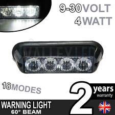 4 LED Warning Phare Blanc Module Secours clignotant 12V ou 24v Poids Lourds