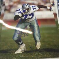 Jim Jeffcoat Signed Autographed 8x10 Photo Dallas cowboys Holo B