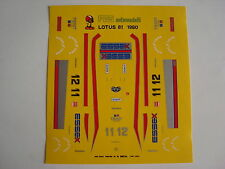 DECALS 1/43 F1 KIT LOTUS 81 F1 1980 ANDRETTI-DE ANGELIS 1/43 DECALS