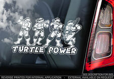 Turtle Power -Car Window Sticker- Teenage Mutant Ninja Turtles Hero TMNT Cartoon