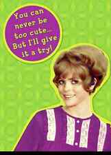 You Can Never Be Too Cute funny fridge magnet  (hb) REDUCED!