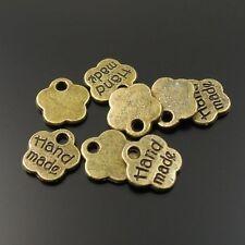 32858 Antiqued Bronze Vintage Alloy Hand made Words Flower Pendant Charms 150pcs