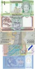 WORLD LOT OF 5 DIFFERENT UNCIRCULATED BANKNOTES (S)