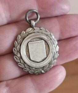 Sterling Silver Laurel Wreath & Shield Watch Fob Medal  by J.F Birmingham 1936