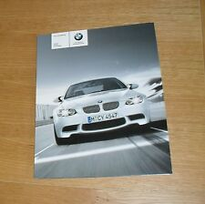 BMW M3 E90 Saloon E92 Coupe E93 Convertible Brochure 2008 - V8