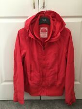 Next Womens Casual Hooded Coral Red Jacket Size 14