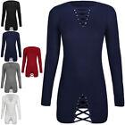 Womens Ladies Winter Knit Jumper Dress Corset Long Sleeve Stud Embellished Size