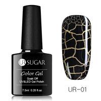 UR SUGAR 7.5ml Nagel Gellack Risse Cracked Gel Nail Art Soak off UV Gel Polish