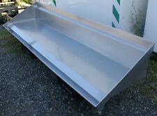 Edelstahl Wandregal Regal mit Ablaufrinne Ablageboard mit Ablauf 180x47x25 cm /B