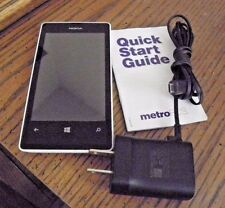 Nokia Lumia 521- White (MetroPCS) Smartphone w/ Battery & Charger-NO Scratches