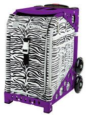 ZUCA Bag ZEBRA Insert & Purple Frame w/Flashing Wheels - FREE SEAT CUSHION