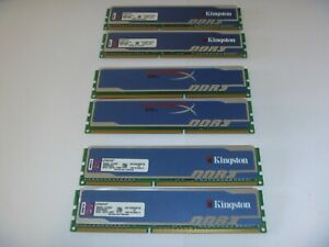 Kingston HyperX blu 4GB (2x2GB) DDR3 RAM Memory 1333 10600U Desktop 1.5V Dual