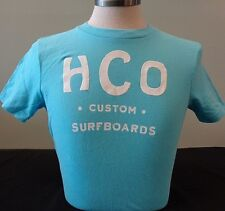 NEW MENS HOLLISTER S/S GRAPHIC T-SHIRT, TURQUOISE,PICK SIZE, ABERCROMBIE & FITCH
