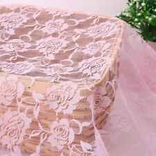 Rose Flower Lace Fabric Wedding Bridal Dress Party DIY 100*150cm Fashion Red
