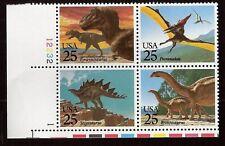 #2422-25~DINOSAURUS~PREHISTORIC ANIMALS~ Plate Block of 4 MNH