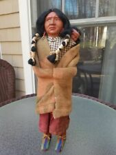 """Vintage Indian Skookum Bully Good Doll with Papoose 16"""""""