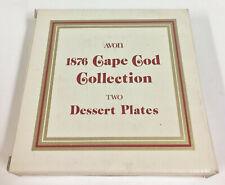 "Set Of 2 Vintage Avon Ruby Red Cape Cod Dessert Plates 7 1/2"" Nib Mint"