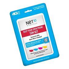 Net10 Keep Your Own Phone 3-in-1 Prepaid Sim Kit Triple Punch Sim