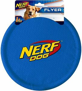 Nerf Dog Nylon Flyer Dog Toy, Frisbee, Lightweight, Durable and Water Resistant,
