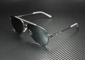 RALPH LAUREN POLO PH3126 91576G Gunmetal White Silver Mir 60 mm Men's Sunglasses