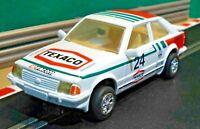 Scalextric 1:32 Vintage 1980s C441 Ford Escort MK3 XR3i White Texaco (RESTORED)