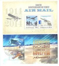 Australia-Aviation 2 special min sheets fine used cto