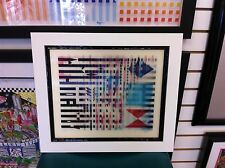 "Yaacov Agam Agamograph "" Step of Time "" Signed & Numbered / Custom Framed"