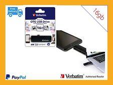 ($0 P&H) Verbatim Store'n'Go OTG SmartPhone USB Flash Drive 16GB Black #: 64392