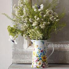 Katie Alice English Garden Porcelain Jug Pitcher Shabby Chic Vintage Flower Vase