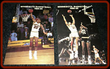 LOT OF 2 MINNESOTA GOPHER BASKETBALL POCKET SCHEDULES 1988-89 & 1989-90