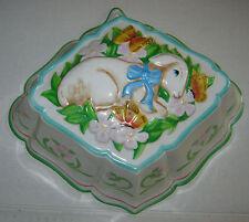 Lamb and Butterflies Jello Mold Le Cordon Bleu Franklin Mint