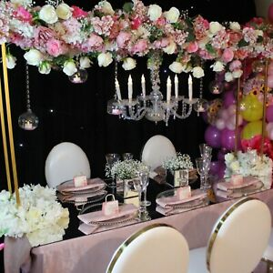 Asian wedding floral bridge centrepiece HIRE, floral canopy, VIP table decor
