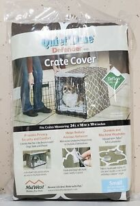 Midwest Quiet Time Crate Cover Geometric Brown Defender Series for Dogs 24x18x19
